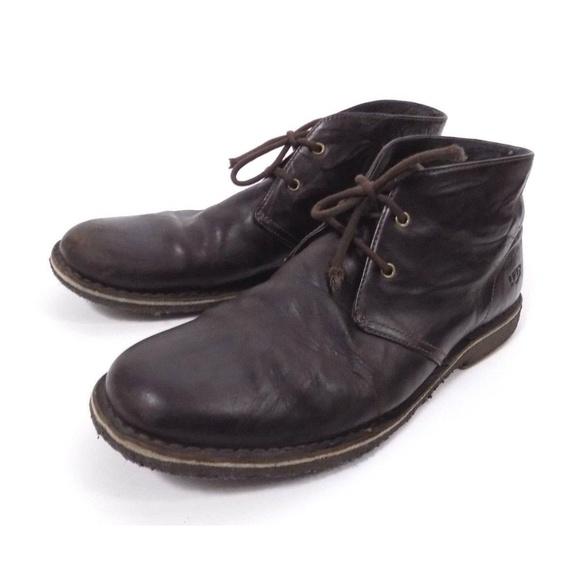 Ugg Dark Brown Leighton Desert Boots Chukka